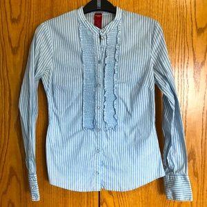 Olsen Europe striped ruffle blouse